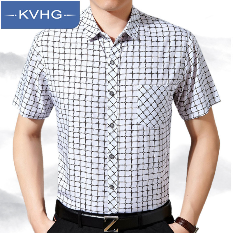 Summer 2016 men's business casual shirt iron kvhg hundred ride pointed collar shirt 5495 new middle-aged middle-aged men