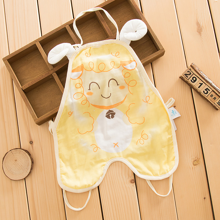 Summer baby cotton gauze even foot apron apron newborn baby even leg apron summer baby out clothes