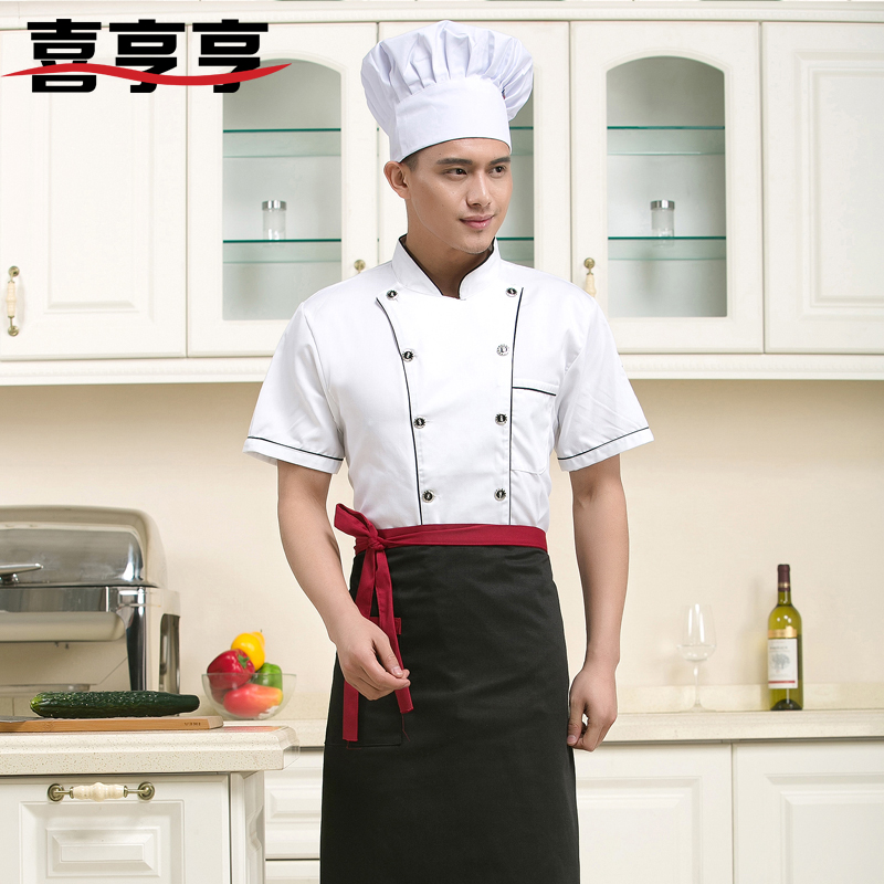 Summer clothes chef clothing chef uniforms chef clothing long sleeve double-breasted chef clothing chef uniforms chef service hotel restaurant chef clothing short sleeve summer