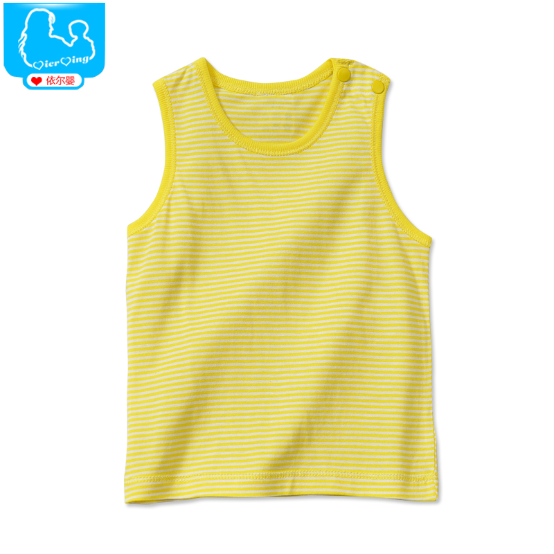 Summer infant baby clothes baby clothing summer baby clothes summer clothing loose cotton shoulder open buckle vest