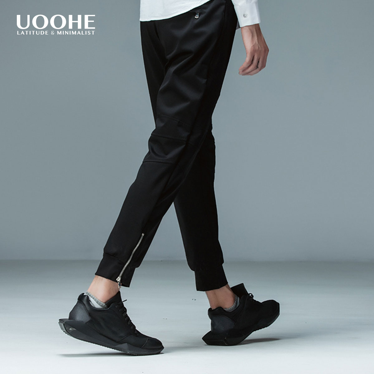 Summer new bundle UOOHE2016 pantyhose feet slim tide male sports pants drawstring pants harem pants feet pants tide brand