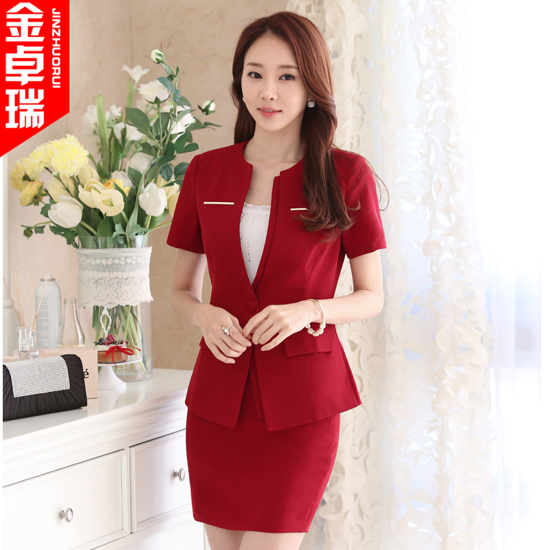 Summer new ladies wear skirt suits career suits overalls interview ms. fashion slim skirt