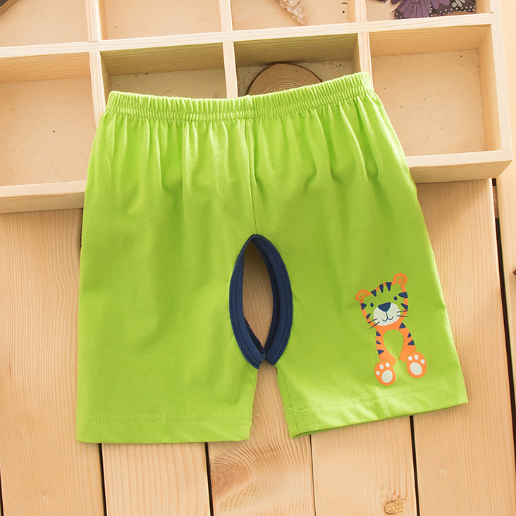 Summer thin cotton crotch shorts baby summer clothes out of cotton baby open file pants for boys and girls shorts