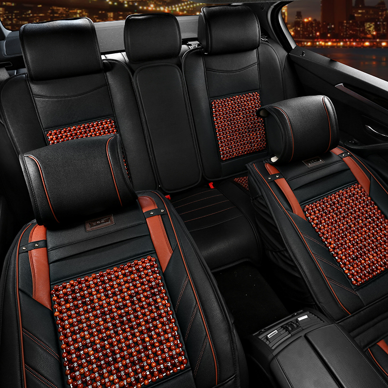 Summer wooden bead seat cushion car honda xrv platinum core crv 408 new lacrosse new regal 508 qin seasons seat