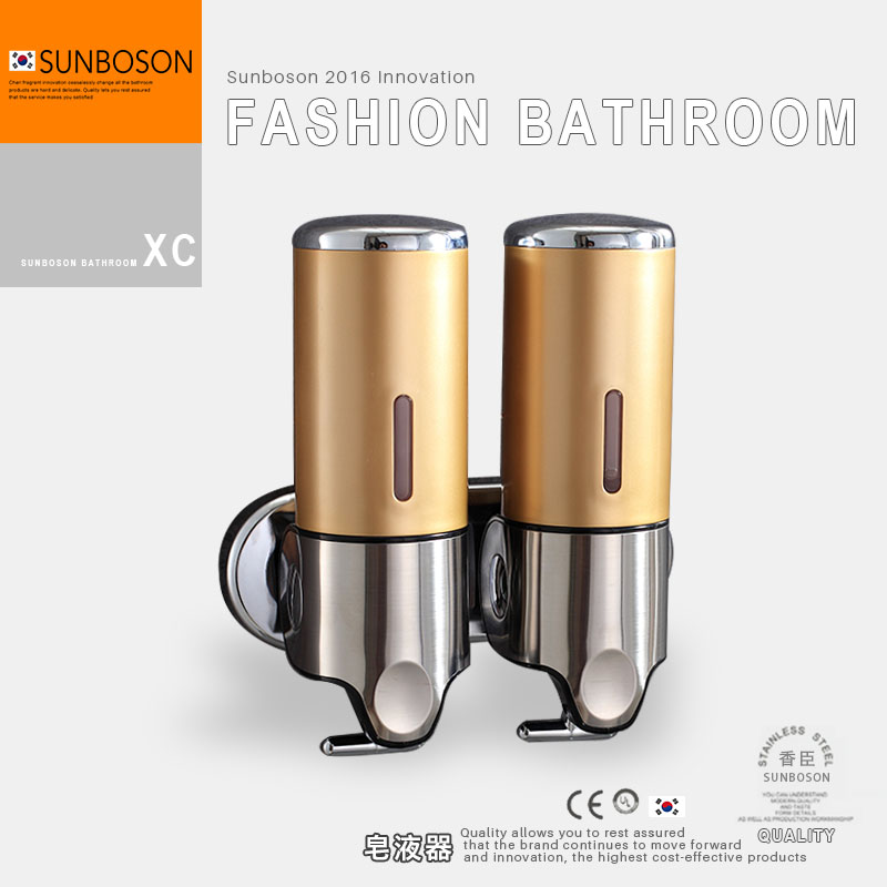 Sunboson noblemen champagne double hand soap dispenser soap dispenser soap dispenser liquid soap box soap bottle of stud hotel