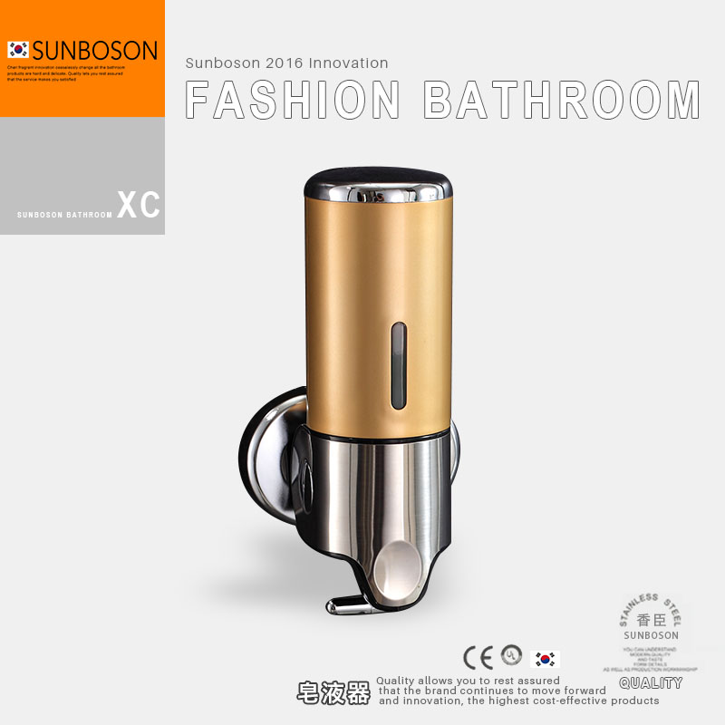 Sunboson stainless steel panel single head manual soap dispenser soap dispenser soap box soap dispenser bottle of hand sanitizer Single head