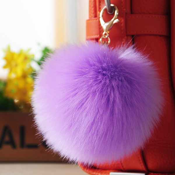 Super cute imitation fur fox fur bag pendant fashion pendant plush fur ball pendant keychain ornaments