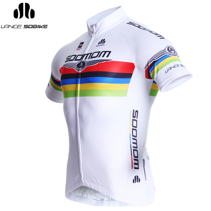 Super league bicycle road bike mountain bike riding clothes suit spring and summer men's t-shirt short sleeve cycling clothing luffy