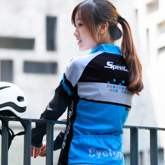 Super league lance sobike fall and winter female fleece cycling jersey long sleeve shirt bicycle clothing shock wave