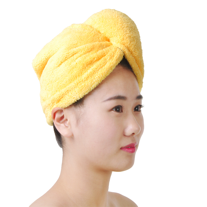 Super soft powerful absorbent turban towel dry hair cap increased thickening microfiber towel dry hair towel to wipe the head