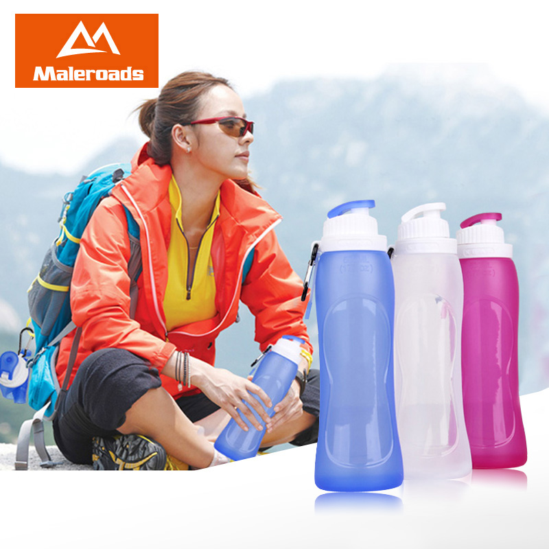 Super soft silicone travel supplies outdoor tourism travel travel silicone folding folding kettle cups water bottles