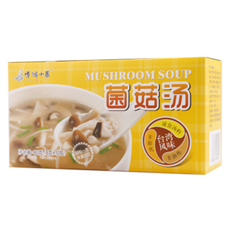 [Supermarket] lynx bo hong dishes mushroom soup 80g/a box of instant soup ready to eat delicious flavor taiwan Good to drink