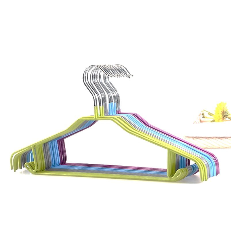[Supermarket] lynx can clean pvc dipped multi seamless slip hangers clothing stays hanging clothes rack coat rack