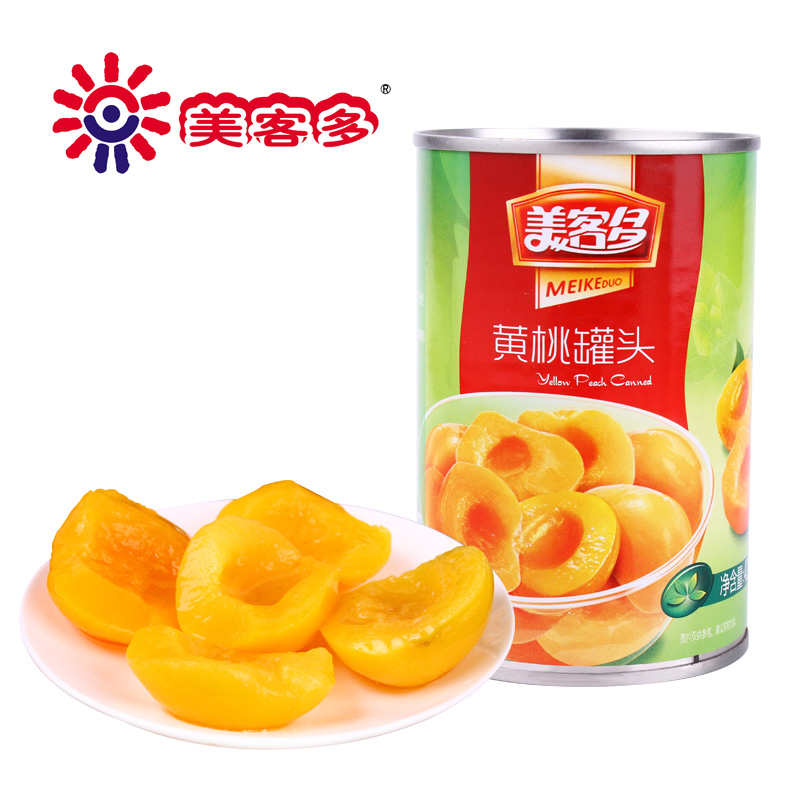 [Supermarket] lynx meikeduo canned peach syrup 425g/tank convenient canned fresh fruit snacks