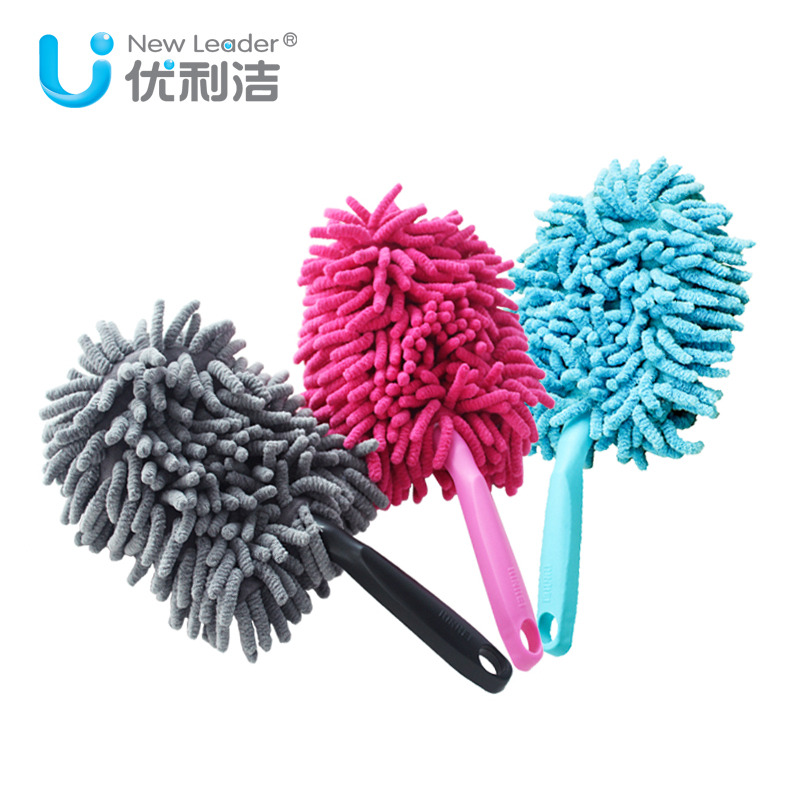 [Supermarket] lynx unisys clean car in addition to dust to clean dust shan shan chenille dust shan home washable color random