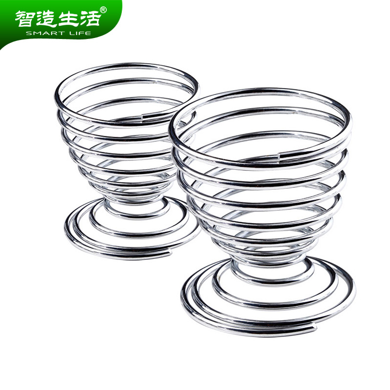 [Supermarket] lynx wisdom made life spring egg tray egg tray egg tray egg egg cup stainless steel steaming Cup