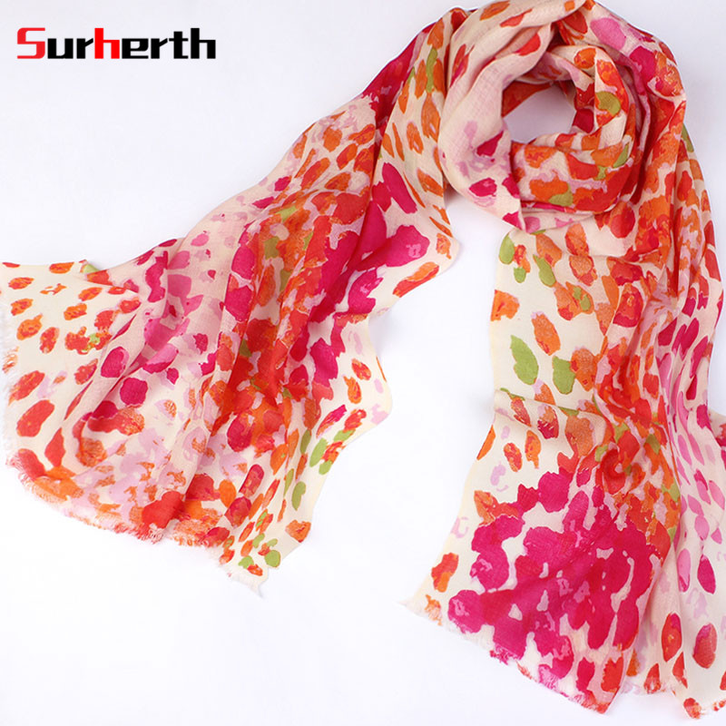 Surherth customized 2016 new wool scarf printed shawl multi scarf korean version of the printed