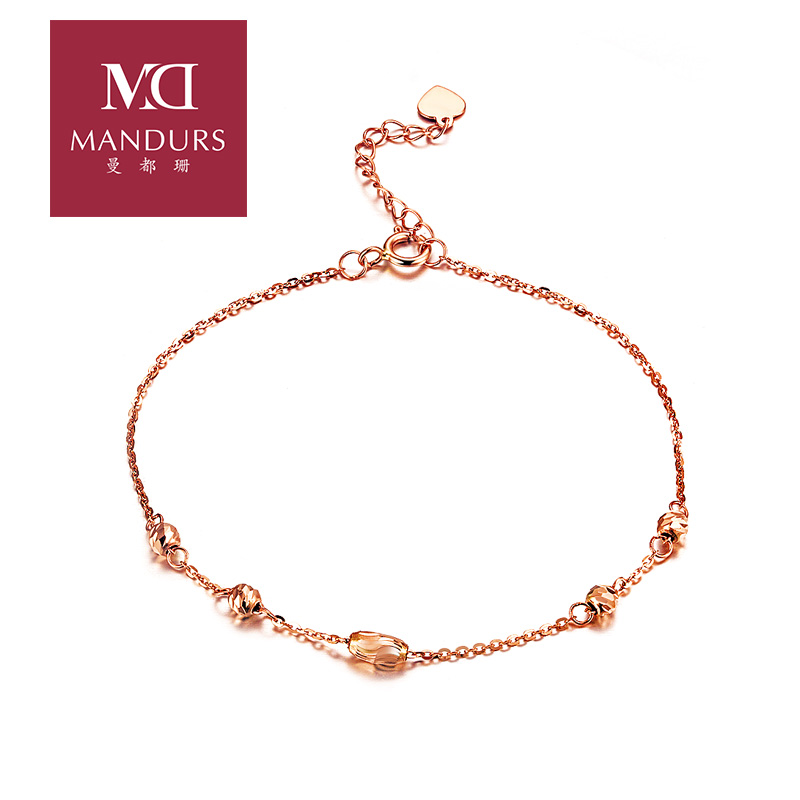 Susan mann were k gold bracelet k rose gold color gold bracelet ms. bracelet bead bracelet transport