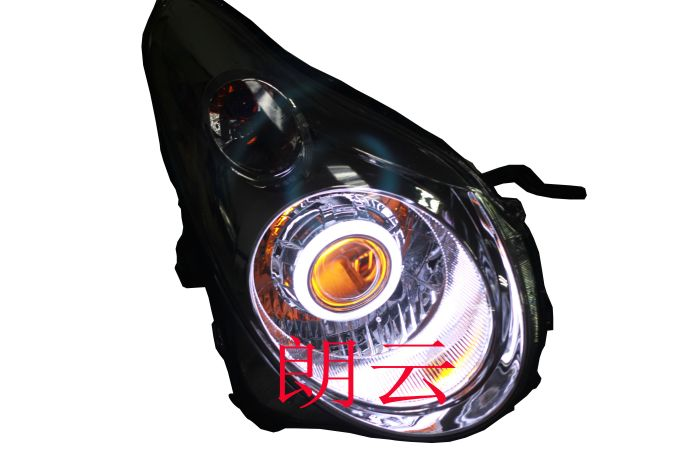 Suzuki alto headlight assembly modified q5 bifocal lens with angel eyes devil eyes hid xenon lamp headlight assembly
