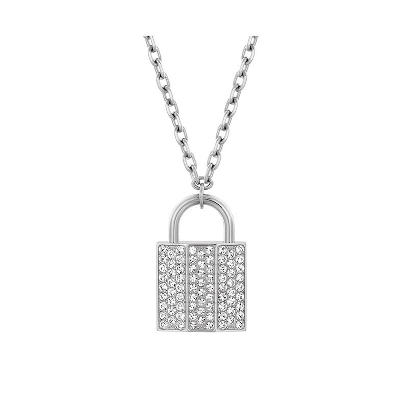 Swarovski swarovski crystal texture ms. simple padlock pendant necklace sweater chain 5120620