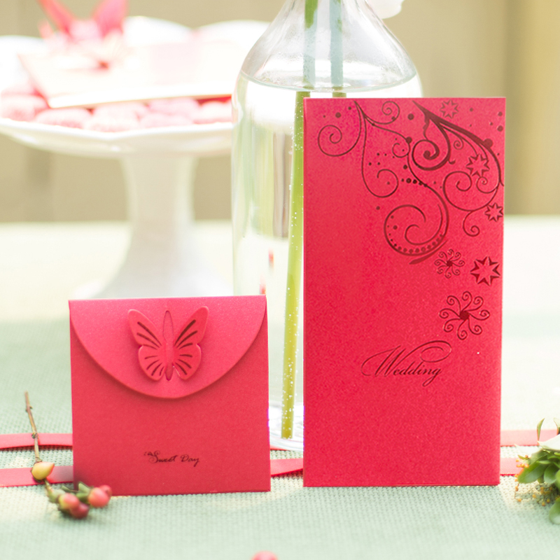 Sweet day euclidian married red envelopes wedding supplies wedding envelopes creative festive red packets 10 installed