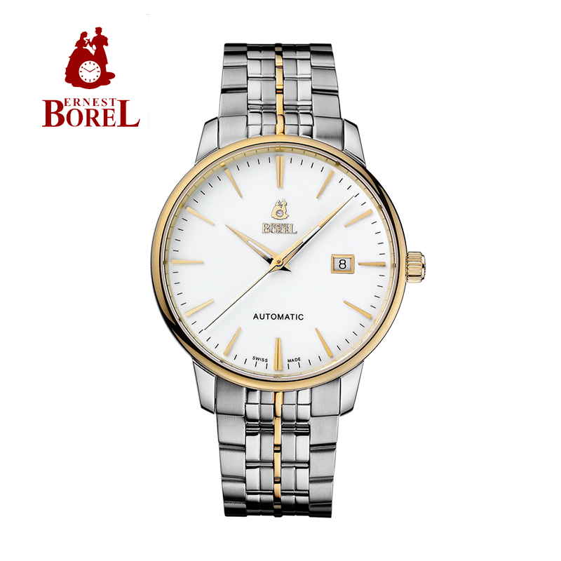 Switzerland borel ernestborel alice automatic series of white male watch design 630-4621