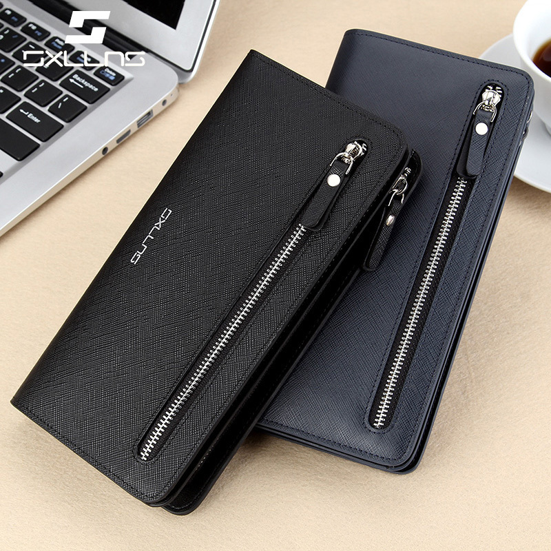Sxllns new wallet men wallet genuine cowhide leather wallet long wallet wallet korean tidal handbag