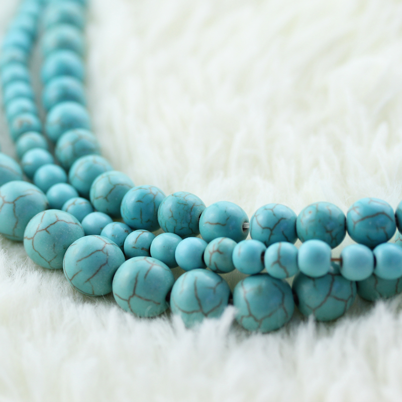 Synthetic turquoise beads woven material diy handmade beaded jewelry beaded jewelry accessories tibetan necklace