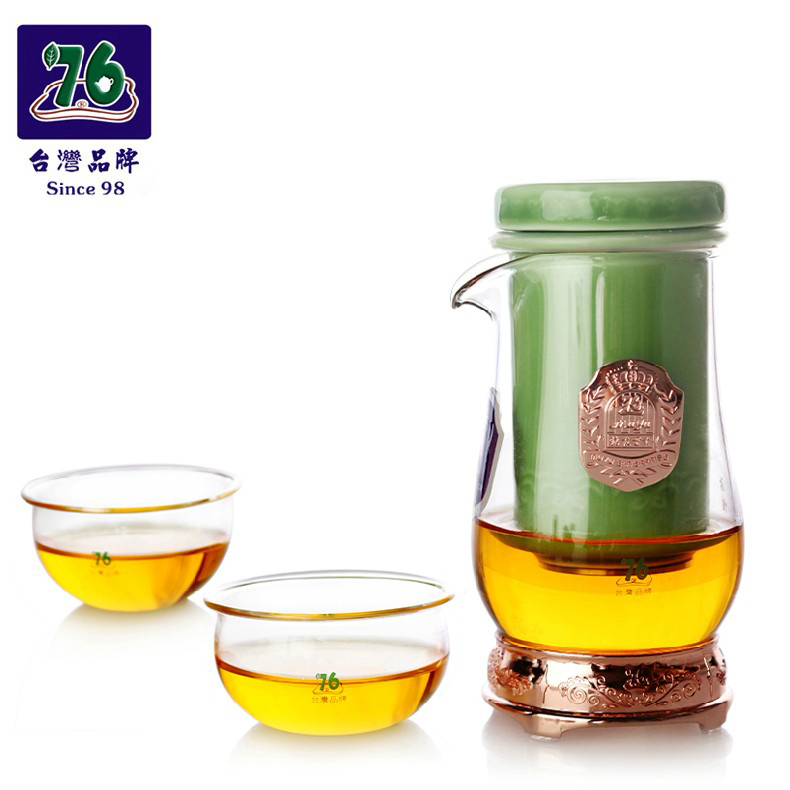 Taiwan 76 teapot tea is black tea binaural tea cup heat resistant glass teapot filter kung fu tea