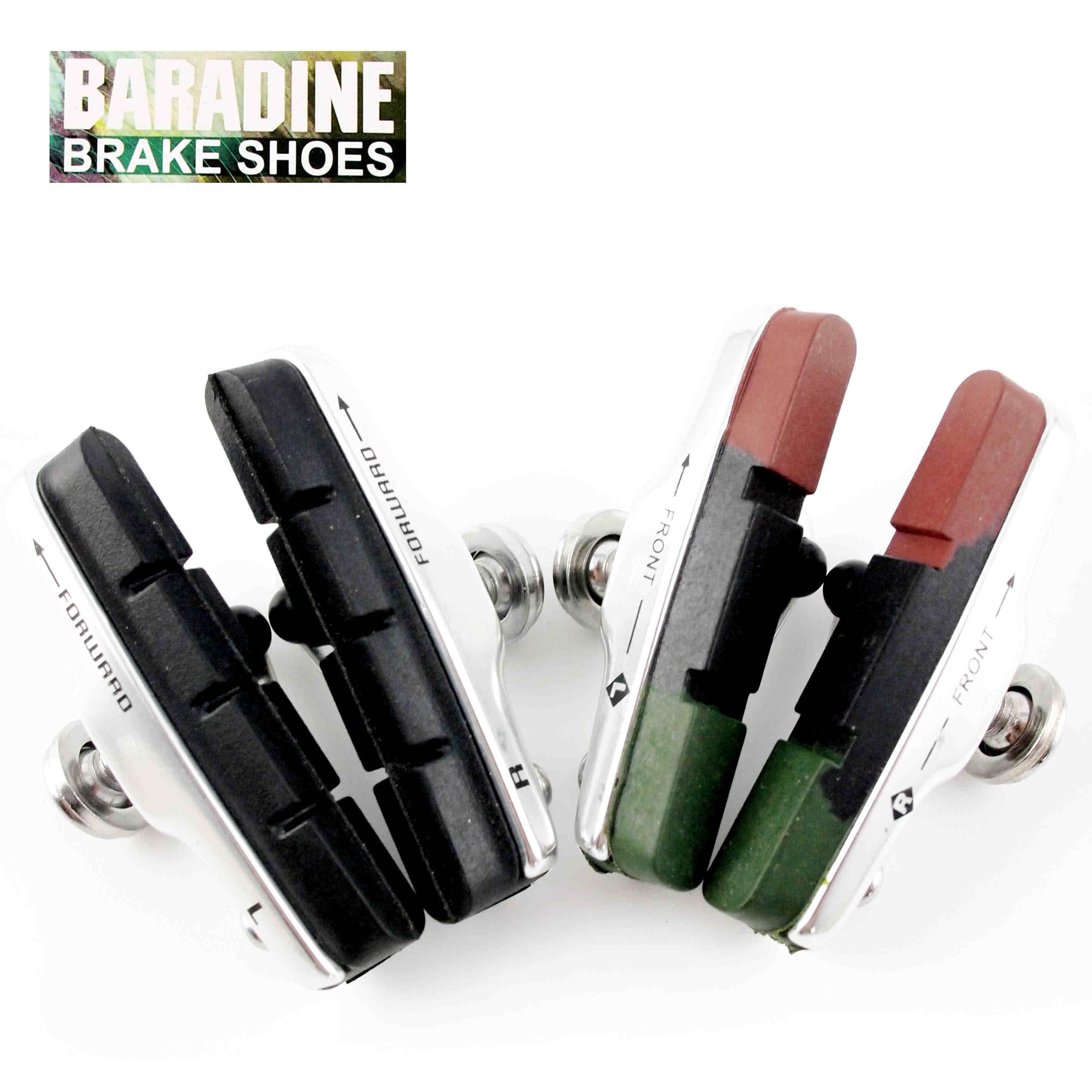Taiwan baradine yongjie road bike brake pads brake blocks silent v brake rubber from driving accessories equipment