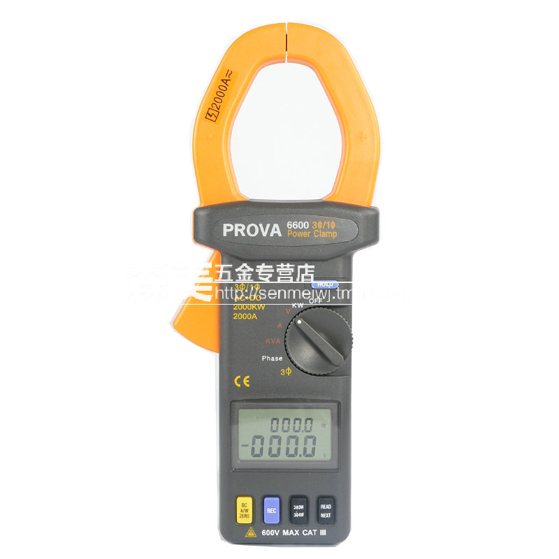 Taiwan bauer PROVA-6600 high precision digital handheld clamp meter clamp meter power meter power meter three-phase