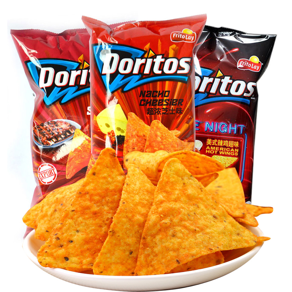 Taiwan imported snacks doritos doritos corn chips crisps 198.4gX3 leisure puffed food