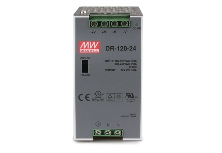 [Taiwan] meanwell switching power supply dr-120-24 meanwell 120 w dc24v/5a rail