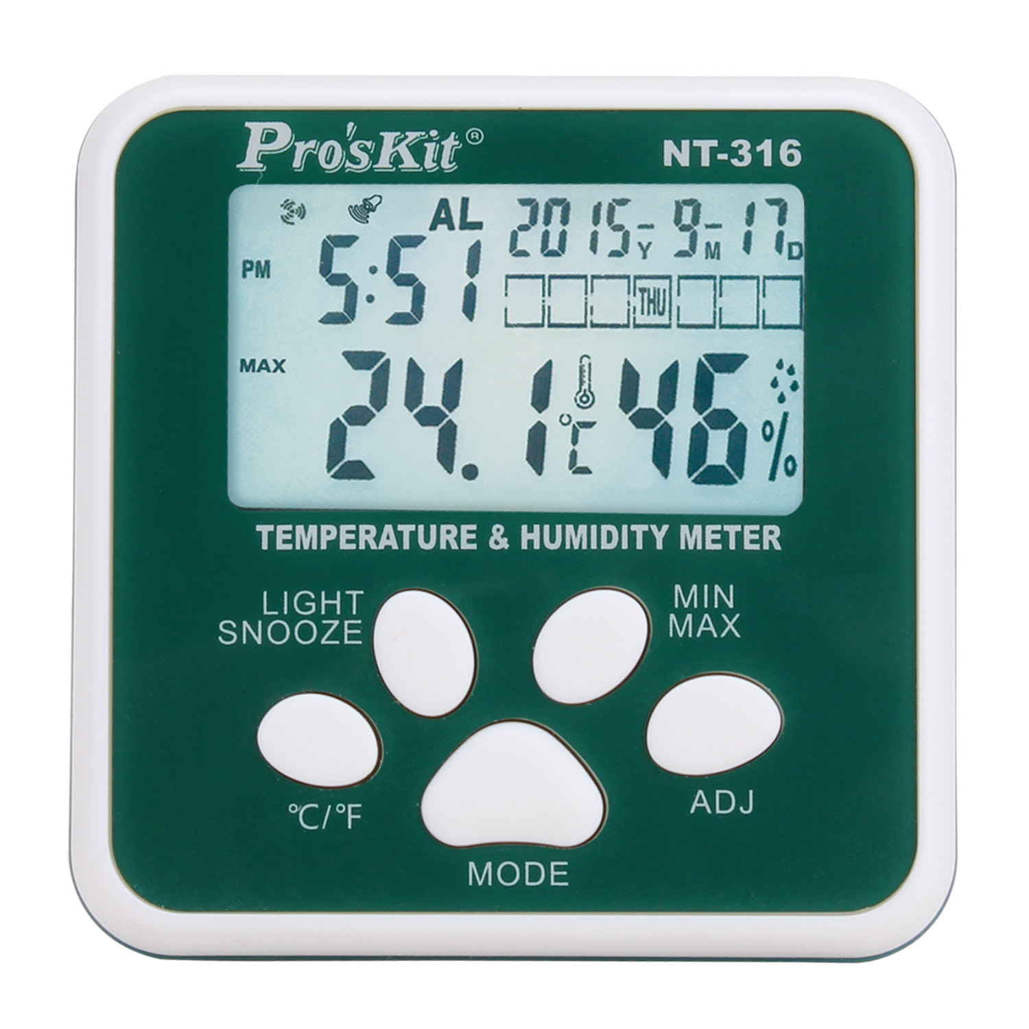 Taiwan po workers pro 'skit NT-316 multifunction temperature and humidity meter thermometer