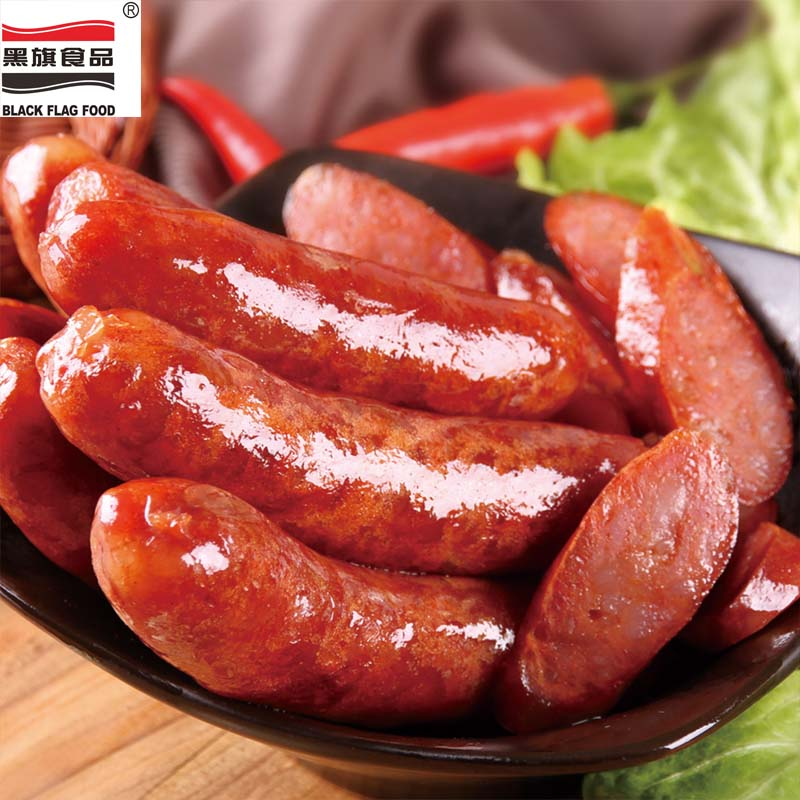 Taiwan sausage flavored with black pepper spicy sichuan hot dog sausage pure pork sausage without starch 180g4 per bag specials