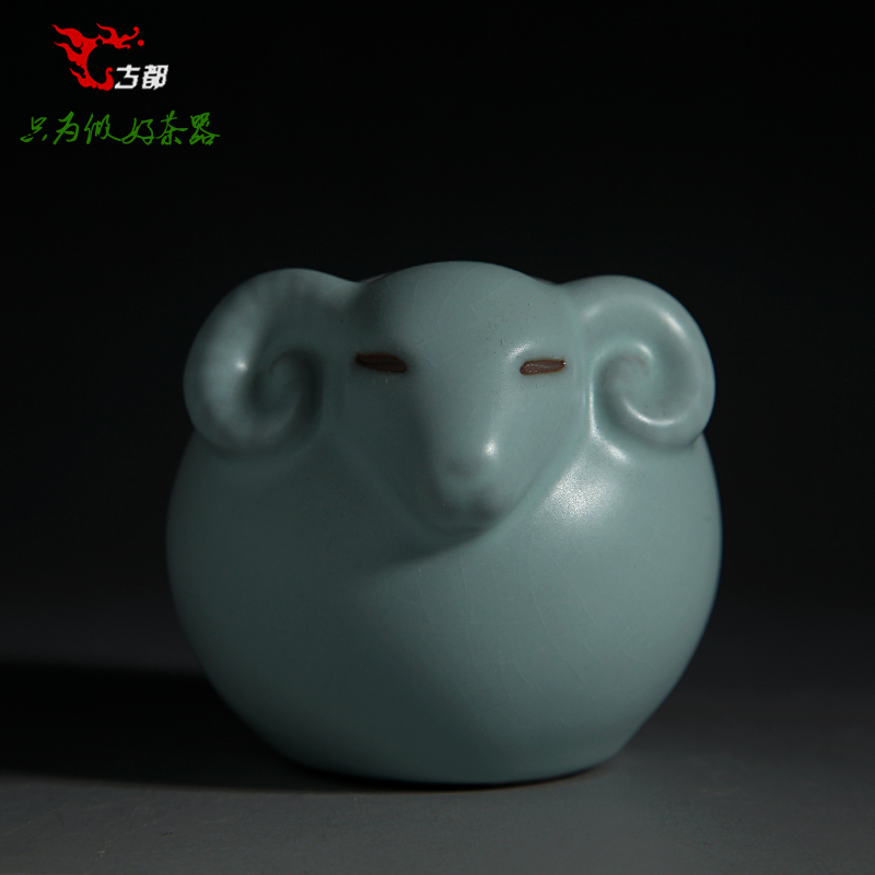 Taiwan shendao ru kiln tea pet/boutique opening film ru ru tea pet ornaments opening film ru tea play special/twelve zodiac