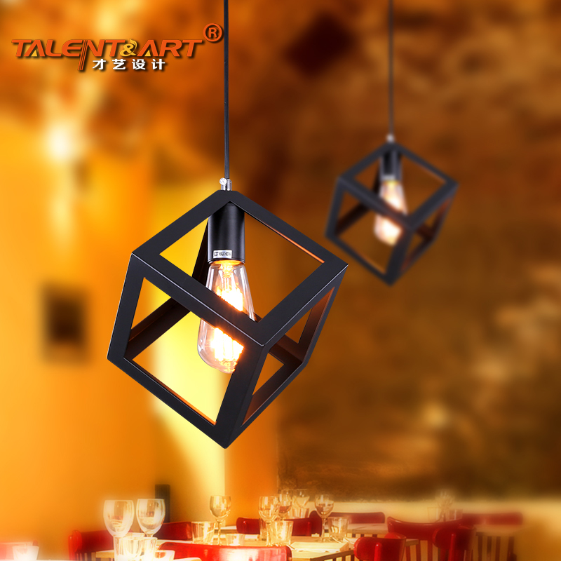 Talent nordic creative personality small chandelier modern minimalist restaurant cafe american loft industrial wrought iron chandelier