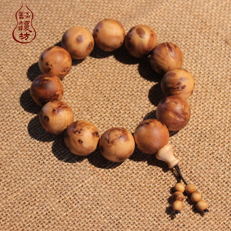 Tan fu square natural taihang tumor scar over to stay cliff cedar prayer beads bracelet bracelets for men and women