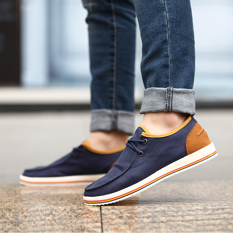 Tan rui new fall fashion trend of casual shoes breathable men's canvas shoes men's casual shoes tide shoes autumn