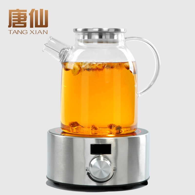 Tang xian large capacity glass pot electric ceramic furnace temperature thickened household teapot boiling tea kettle suit