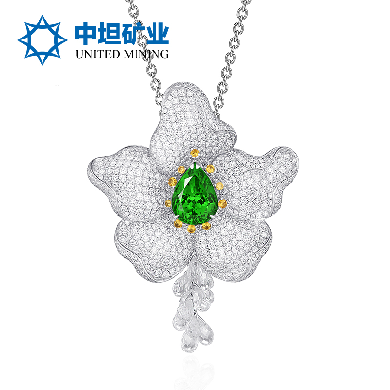 [Tanzania]克拉沙弗莱克拉沙弗莱5.599 karat k gold diamond pendant brooch pendant brooch dual models