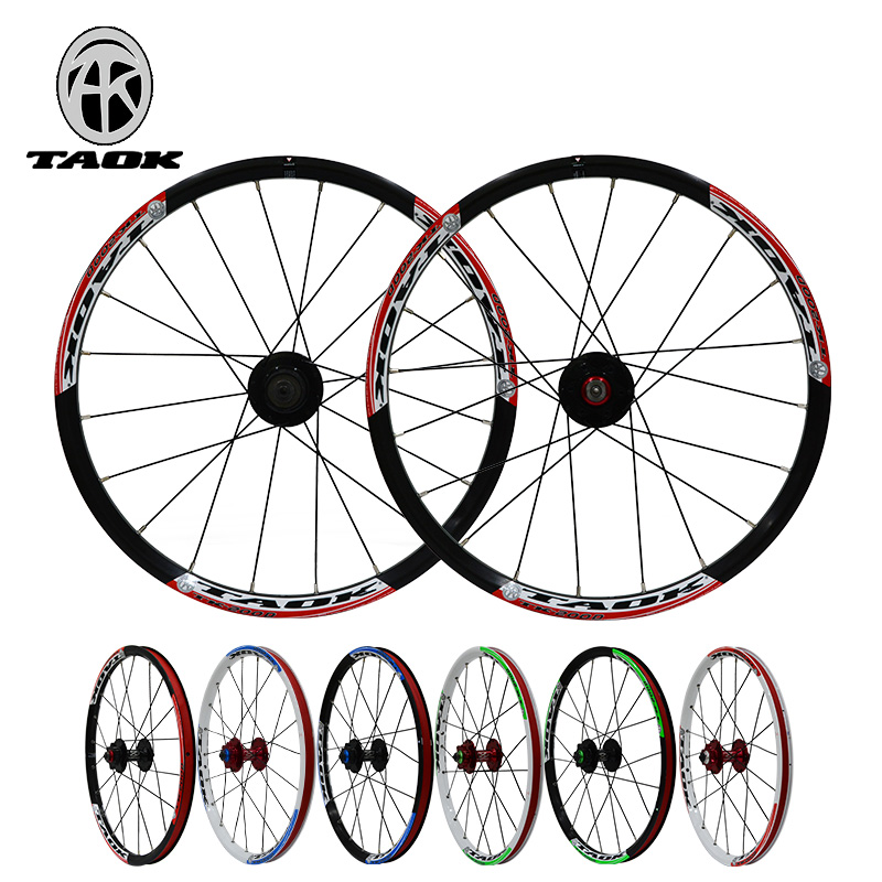 Taok tinto grams 20 inch 406 small wheel diameter folding mountain bike bicycle quick release hub disc wheels