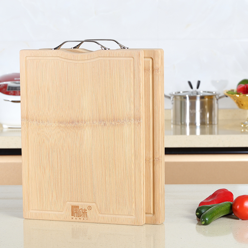 Taste and wood cutting board rectangular cutting board antibacterial thicker whole bamboo cutting board ganmian large chopping board