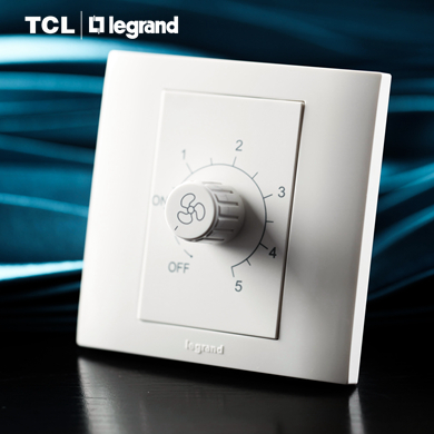 Tcl tcl legrand switch socket official circles white speed control switch 86 type switch panel stepless speed control switch 220 V