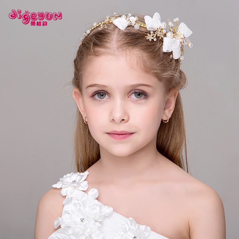 Teague rhyme new children's hair accessories headdress headband headdress hair accessories hair accessories hair bands hair accessories for girls headdress flower girl dresses