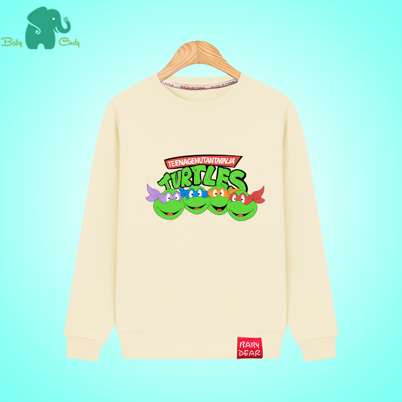 Teenage mutant ninja turtles 2016 hitz children wear boys sweater hedging long sleeve coat thin models big virgin