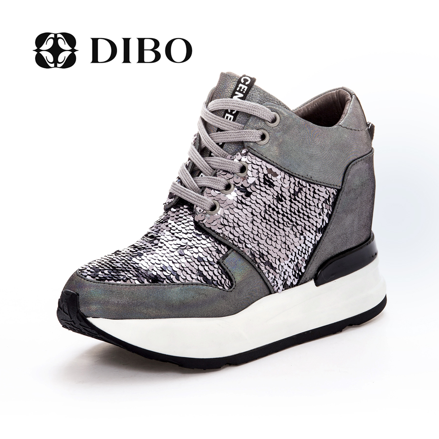 Tellurium platinum dibo2015 new european and american fashion shoes leather shoes increased high shoes thick bottom shoes casual shoes tide shoes women