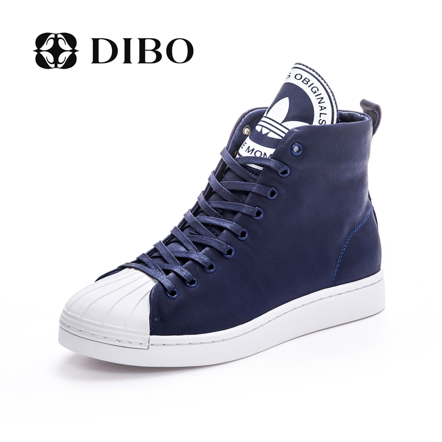 Tellurium platinum dibo2015 new leather shoes in europe and america street fashion casual shoes lace flat shoes high shoes women