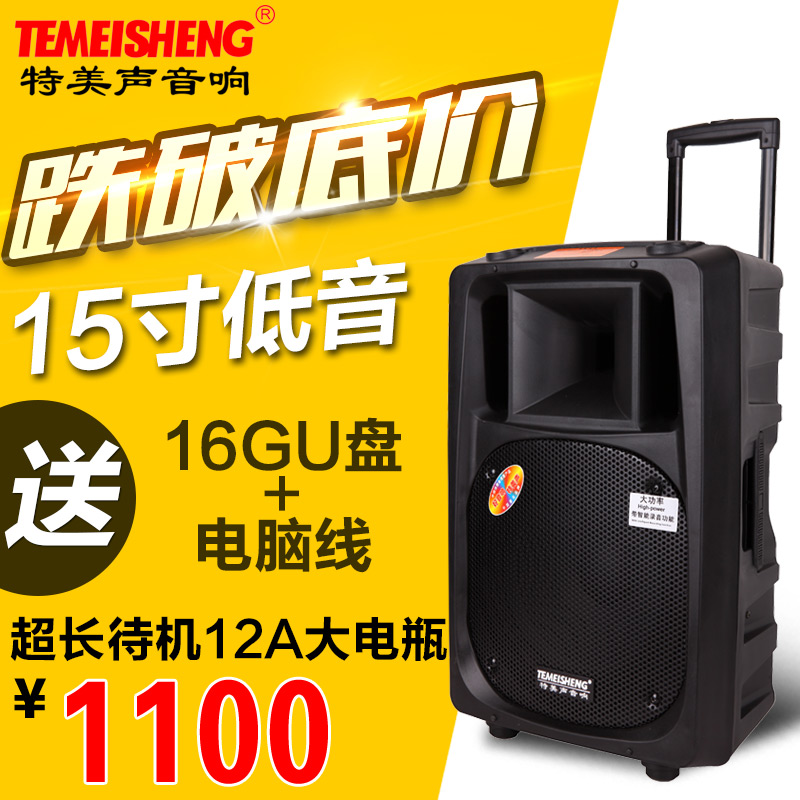 Temeisheng a sound recoriding 2398T outdoor mobile trolley battery outdoor stereo speakers wireless microphone power
