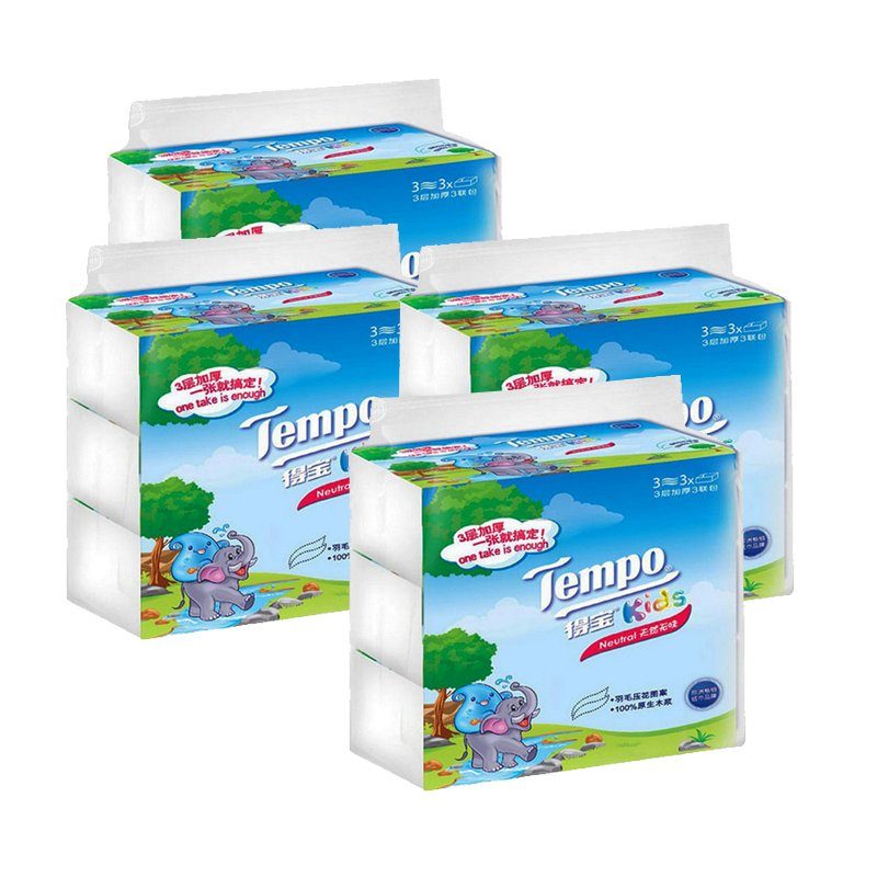 Tempo/depot pumping kleenex tissue paper napkin tissue tasteless children's version of the 3 layer 4 mention three 12 packs